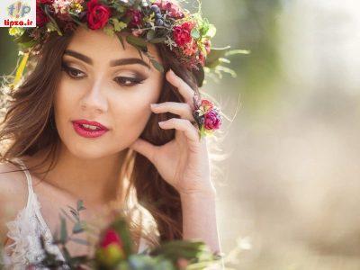 جدیدترین مدل تاج گل طبیعی برای عروس
