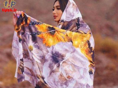 چند مدل روسری نخی شیک با طرح و رنگ جذاب