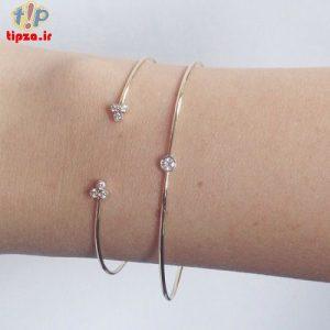 مدل جذاب و شیک دستبند ظریف و شیک دخترانه