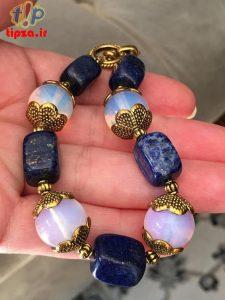 مدل دستبند بزرگ و پهن با سنگهای درخشان و جذاب
