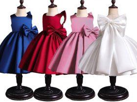 انواع مدلهای جدید لباس مجلسی بچگانه دخترانه