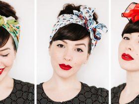 نحوه بستن دستمال سر زنانه + تصاویر