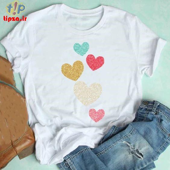 مدل های جدید تی شرت فانتزی دخترانه 1400
