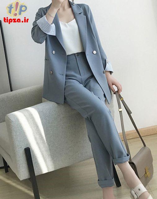 مدل های جدید کت و شلوار زنانه 1400
