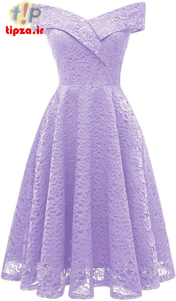 مدل لباس مجلسی رنگ یاسی برای خانم های شیک   لباس مجلسی