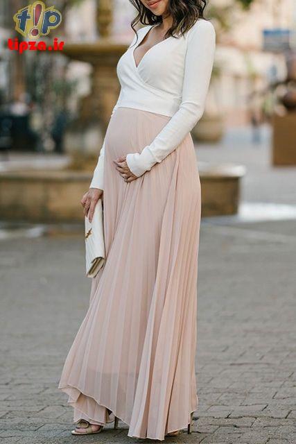 مدل های جدید لباس بارداری متناسب با استایل | تیپزا