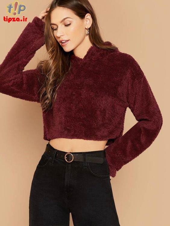 مدل هودی و لباس پشمی گرم زنانه و دخترانه | انتخاب لباس گرم