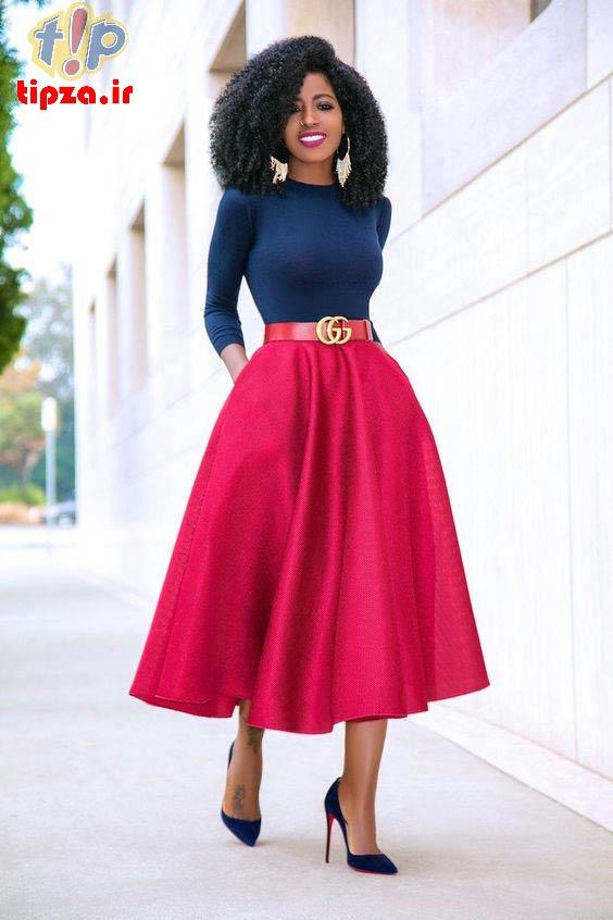 27 مدل لباس مجلسی با دامن کلوش زنانه و دخترانه   مدل لباس