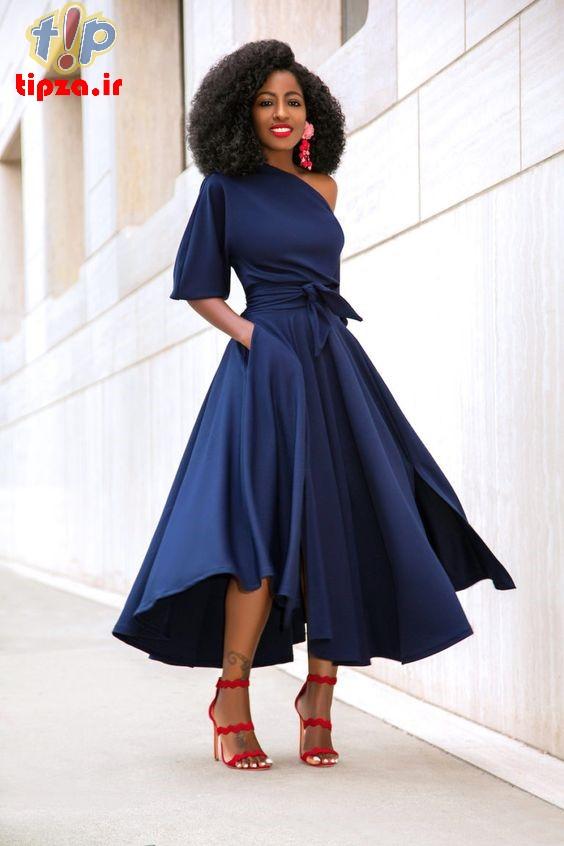 ۲۷ مدل لباس مجلسی با دامن کلوش زنانه و دخترانه | مدل لباس