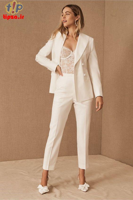 مدل های جدیدی از کت و شلوار زنانه 2022
