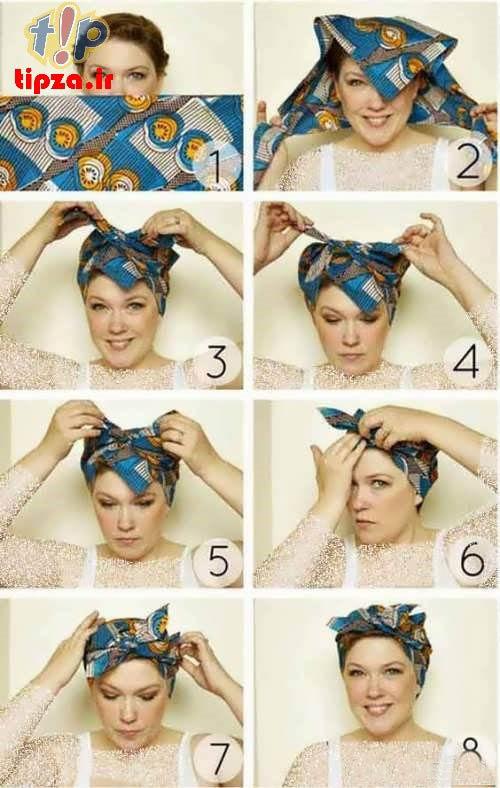 آموزش بستن توربان با شال و روسری + تصاویر | توربان مجلسی