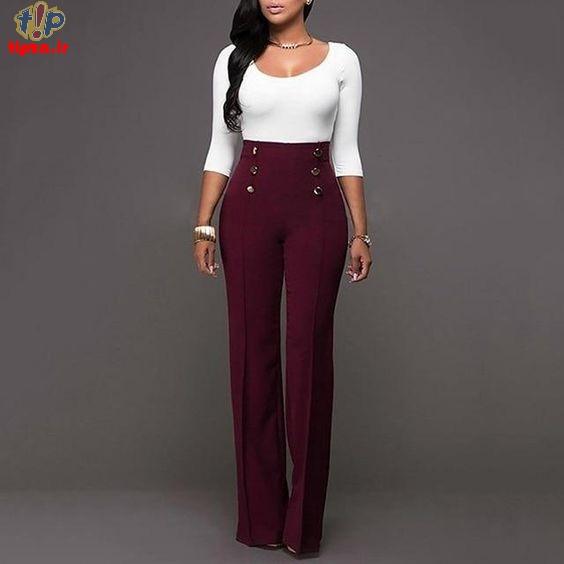 انواع مختلف شلوار زنانه شیک همراه با راهنمای سایز