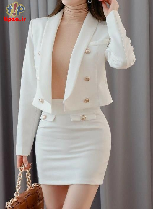 ست کردن لباس با دامن های کوتاه زنانه شیک مجلسی