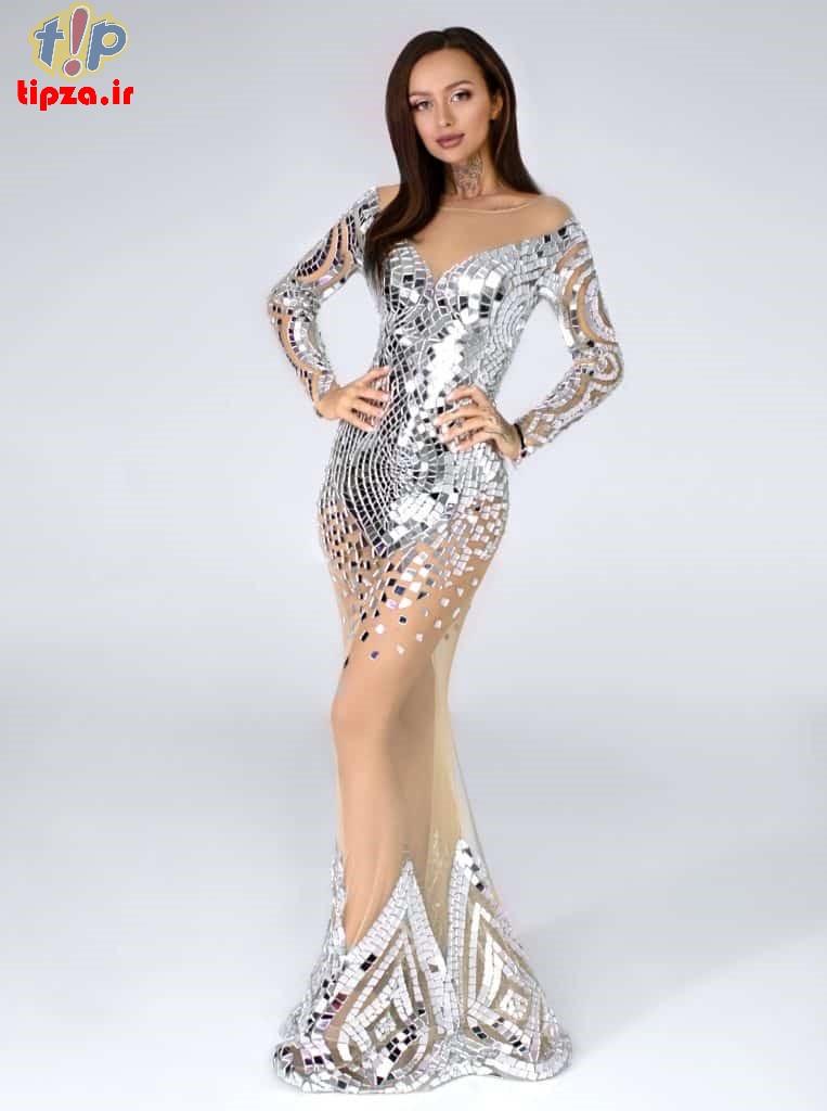 مدل لباس مجلسی پولکی کوتاه و بلند زنانه | استایل شیک